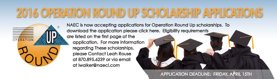 2016 Operation Round Up Scholarship Application