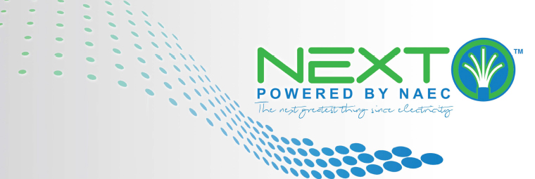 NEXT powered by NAEC logo